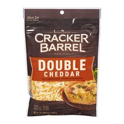 Cracker Barrel Double cheddar mild shredded cheese mix 320 g