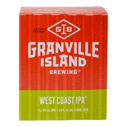 Granville Island West Coast Ipa Canadian Beer 4x473 ml - cans