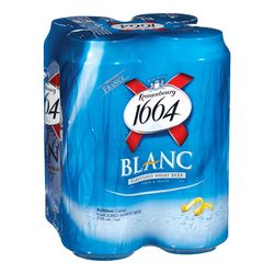 Kronenbourg 1664 Blanc flavoured wheat beer 4x500 ml - cans