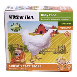 Junior Frozen gluten free chicken cacciatore baby food 4x118 ml
