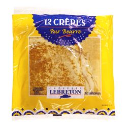 Crêperie LeBreton Pure butter crepes 12 pancakes, 300 g