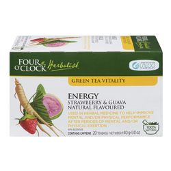 Herborist Energy strawberry and guava green tea bags 20 un